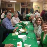 St Patrick's Day Dinner WRC Fundraiser - guests from St. John's Lutheran Church