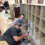 WRC Painting Party - Pastor Heather Finck and Tom Zurhellen from Freedom Plains United Presbterian Church